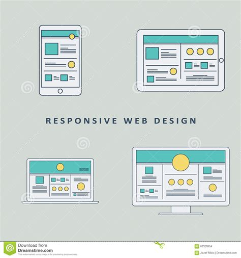 mockup design layout responsive web design mockup template vector stock vector
