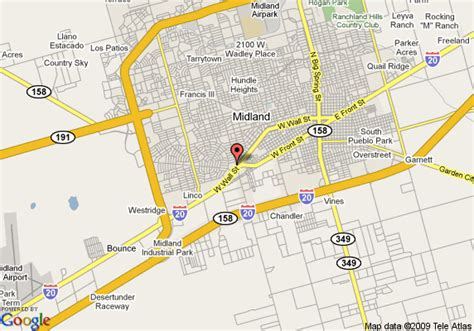 midland texas on map map of midland days inn midland