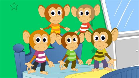 monkey jumping on the bed five little monkeys nursery rhyme youtube