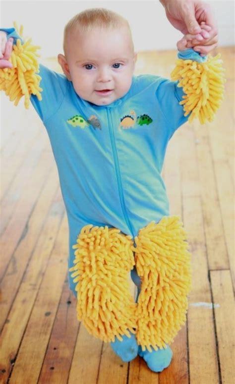 Baby Clean Floor by Sweeper Baby Mop Onesie