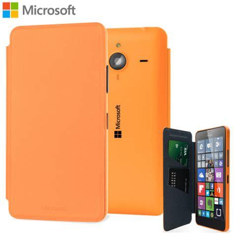 official microsoft lumia  xl wallet cover case orange