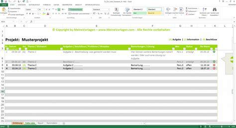 Muster Angebot Hausbau To Do Liste Excel Vorlage Pendenzenliste Aufgabenliste Muster F 252 R Projekte Meinevorlagen
