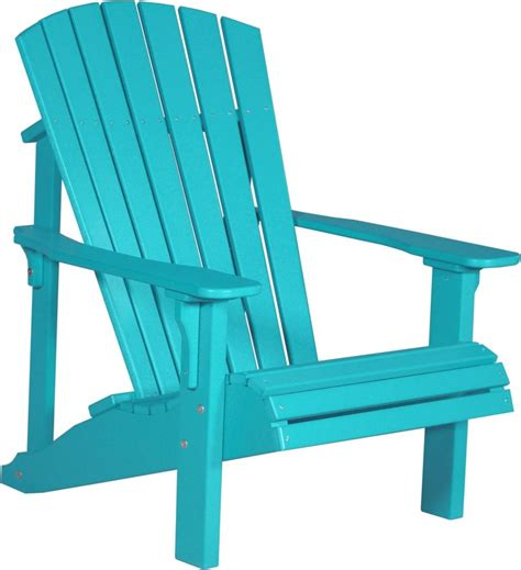 poly furniture wood deluxe adirondack chair aruba blue outdoor lawn chair ebay