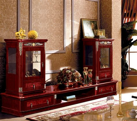 luxurious wooden carving showcase cabinet using clear wood furniture hand carved design modern arabic