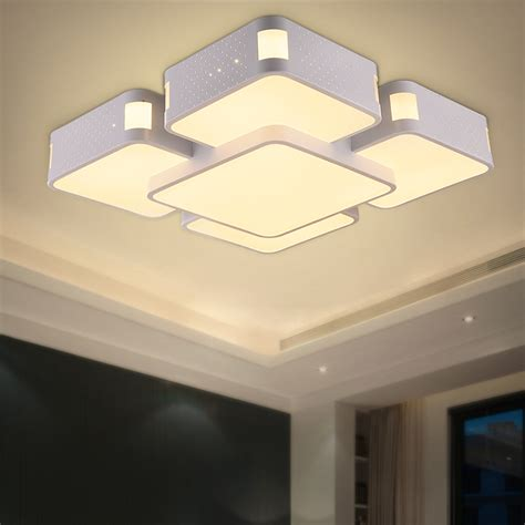 Flush Mount Bedroom Ceiling Lights Modern Ceiling Lights Flush Mount Light Fixture Deckenleuchten Bedroom Acrylic L Laras De