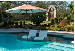 Pool Tanning Chairs Design Ideas Pool With Tanning Ledge Atx Home Built Ins Umbrellas And I