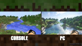 minecraft better graphics minecraft console vs pc graphics comparison