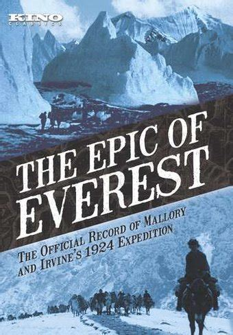 film everest note the epic of everest dvd 1924 directed by j b l noel