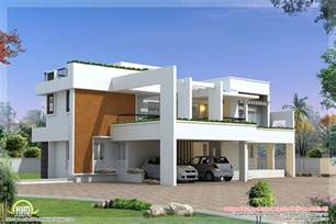 Contemporary Home Design Plans by 4 Bedroom Luxury Contemporary Villa Design Kerala Home