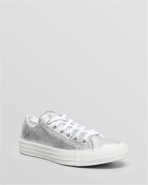 converse silver sneakers converse lace up sneakers chuck all in silver