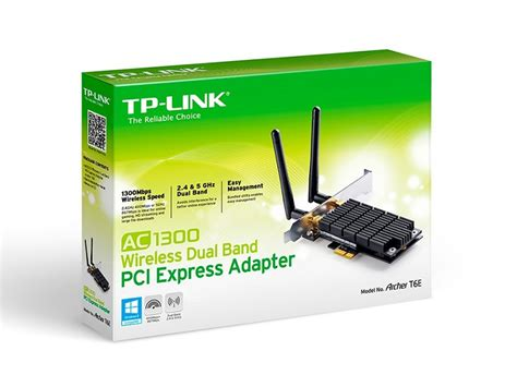 Tp Link Archer T6e Ac1300 Wireless Dual Band Pci Express Adapter tp link archer t6e ac1300 wireless dual band pci express