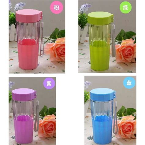 Botol Minum Penyaring Teh With Cup 410ml botol minum plastic cup leakproof bottle 410ml blue jakartanotebook