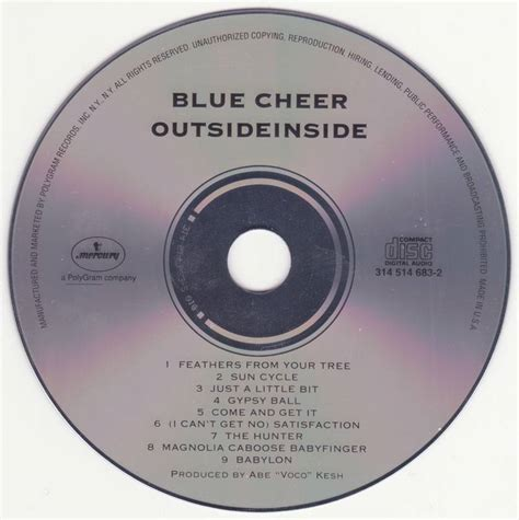 blue cheer feathers from your tree 1968 blue cheer outsideinside 1968 avaxhome