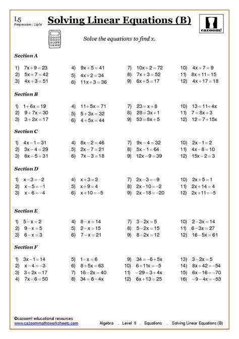 printable worksheets ks3 maths algebra with cazoom maths