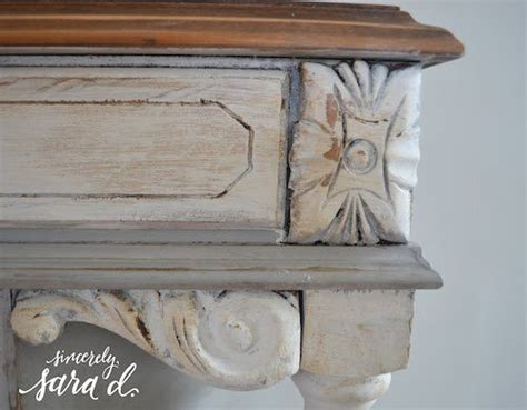 furniture wax over white paint chalk paint tutorial sincerely sara d