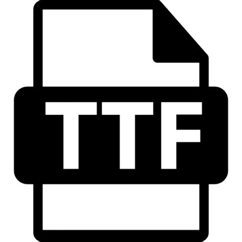format file ttf ttf file format symbol icons free download