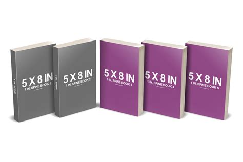multi books 5 x 8 multi paperback book presentation mockup covervault