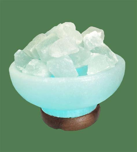 round himalayan salt l himalayan salt l blue round fire bowl white crystal