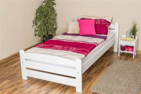 Comforta Solid Spine 100 X 200 Mattress Only single bed guest bed 118 solid beech wood white finish 100 x 200 cm