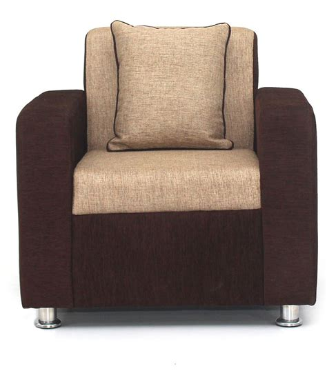 Buy Sofa Set by Buy Sofa Set In Brown Upholstery With 4 Cushions