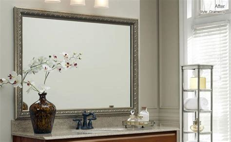 bathroom mirror frame kits bathroom mirror frame kit lowes decor references