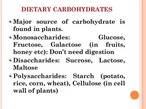 2 carbohydrates found in plants digestion and absorption of carbohydrates and proteins