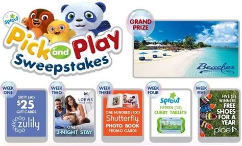 Sprouts Sweepstakes - sprout s pick play sweepstakes sweepstakesbible