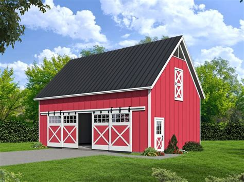 barn workshop plans plan 062b 0004 garage plans and garage blue prints from