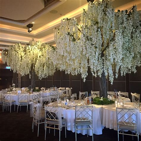 tree decorators for hire white wisteria tree harbourside decorators
