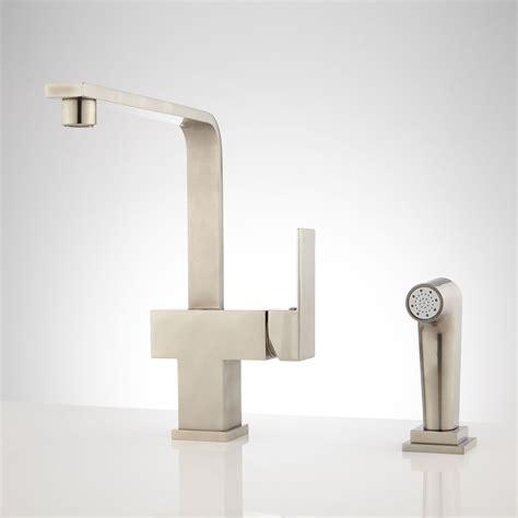 kitchen faucet with built in sprayer 2018 kitchen brushed nickel kitchen faucet for your kitchen countertop decor ideas