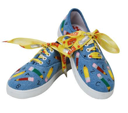 college themed shoes school themed shoes favecrafts com