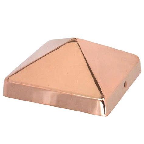 copper l post tops protectyte nominal 8 in x 8 in pyramid slip over copper