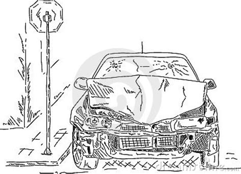 wrecked car drawing wrecked car royalty free stock photo image 22529525