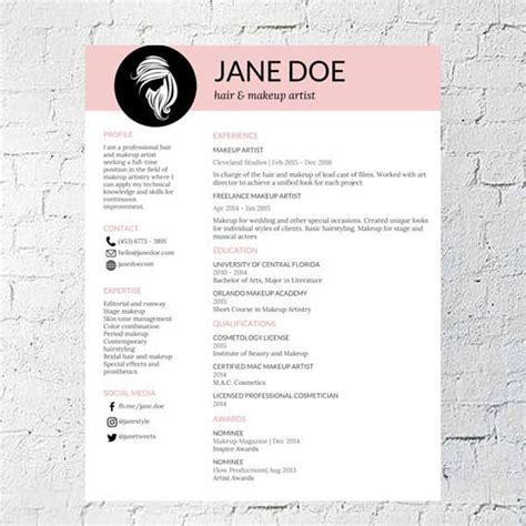 cosmetology resume skills example free resume templates