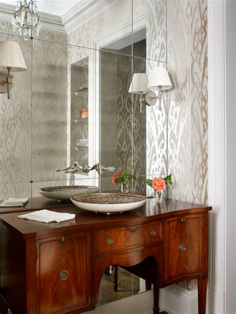 antique bathroom ideas gorgeous bathroom decor with mirrored accent wall