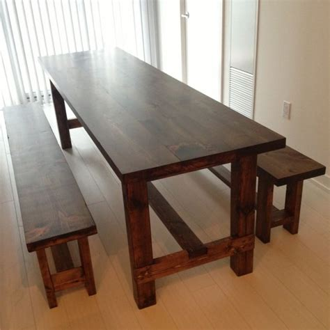 table and bench narrow dining table with