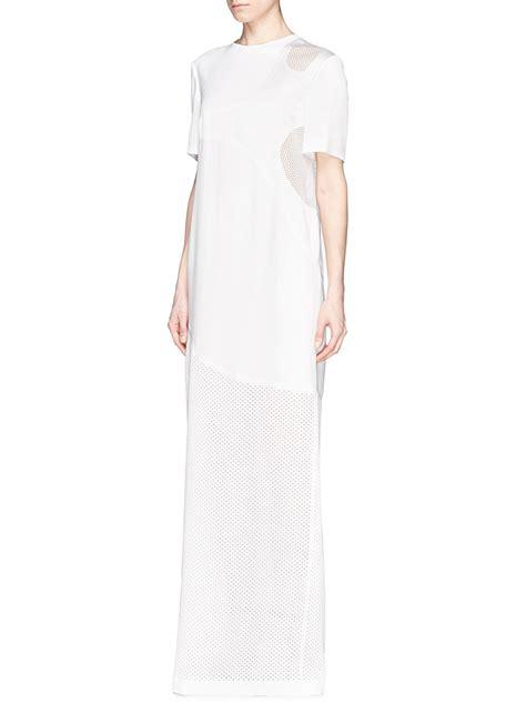 wang perforated skirt t shirt maxi dress in