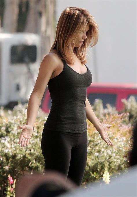 lori loughlin workout lori loughlin films a yoga scene for quot 90210 quot zimbio
