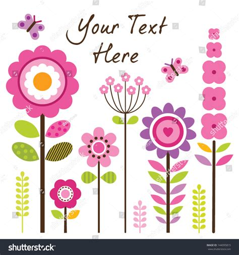 s day card templates flowers vector greeting card template with retro style flowers in