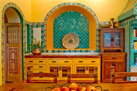 rustic hacienda style texas ranch southwestern kitchen