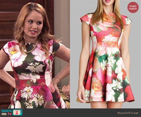 wornontv jessie s floral dress on debby