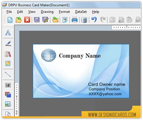 program to make business cards design business cards software screenshots for how to