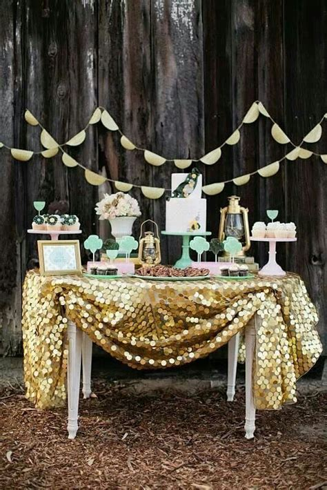 Sailboat Home Decor picture of lovely mint and gold dessert table a giant