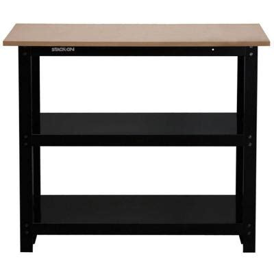 home depot work bench with lights and sounds tool set husky 42 in diy workbench with full length steel shelves