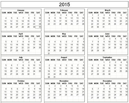 printable calendar 2015 that you can type in blank calendar template 2016 that you can type in