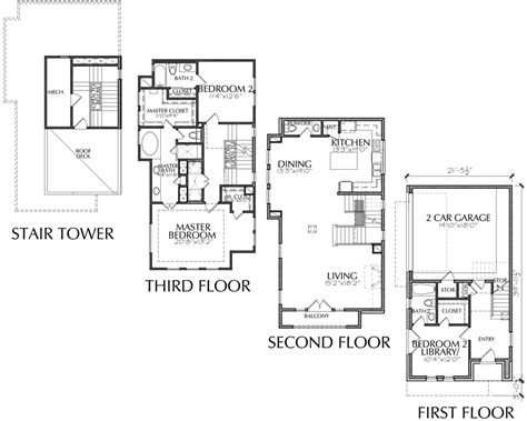 town home plans 23 surprisingly 3 story townhouse floor plans
