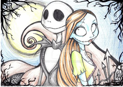 cute nightmare before christmas coloring pages jack and sally by tifetta89 on deviantart