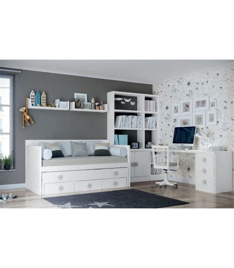 decoracion dormitorio juvenil blanco comprar online dormitorio juvenil lacado en blanco