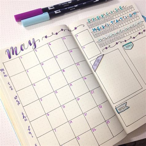 monthly layout bullet journal 14 monthly spreads layout inspiration for your bullet