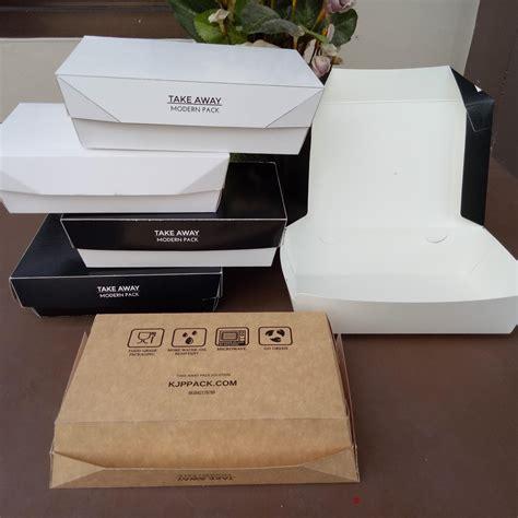 jual lunch box paper  kotak makan kertas foodgrade